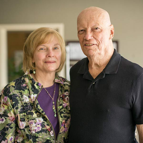 Terry, Tennessee Plateau Oncology patient, and his wife, Fran.